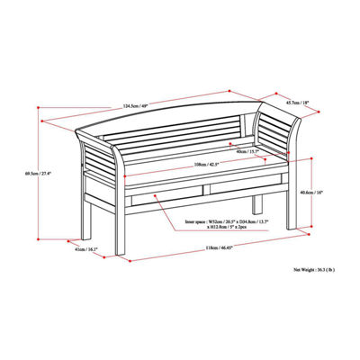 Arlington Entryway Storage Bench
