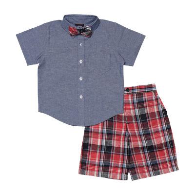 Hudson Ferrell 4-pc. Short Set Baby Boys