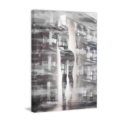Arches and Columns Painting Print on Wrapped Canvas