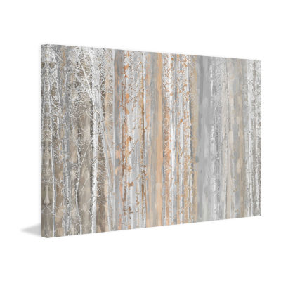 Aspen Forest 1 Painting Print on Wrapped Canvas