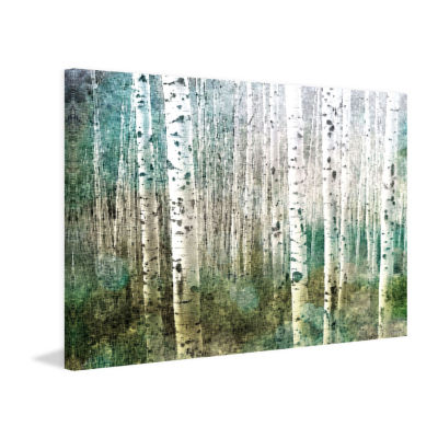 Aspen Green Painting Print on Wrapped Canvas