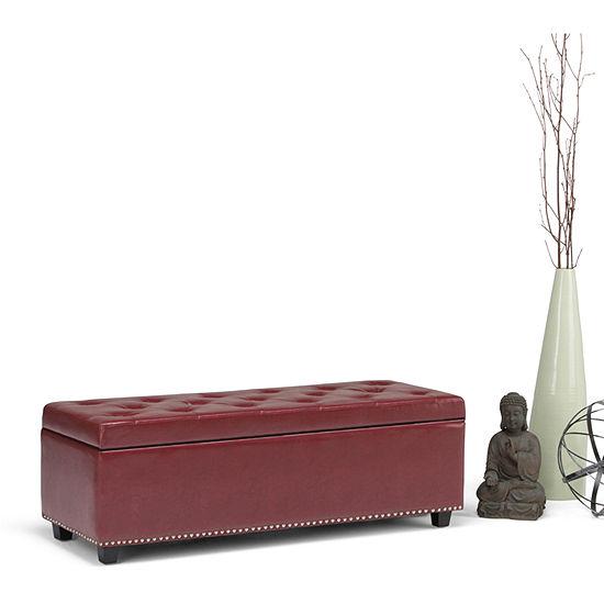 Miraculous Hamilton Large Storage Ottoman Bench Dailytribune Chair Design For Home Dailytribuneorg