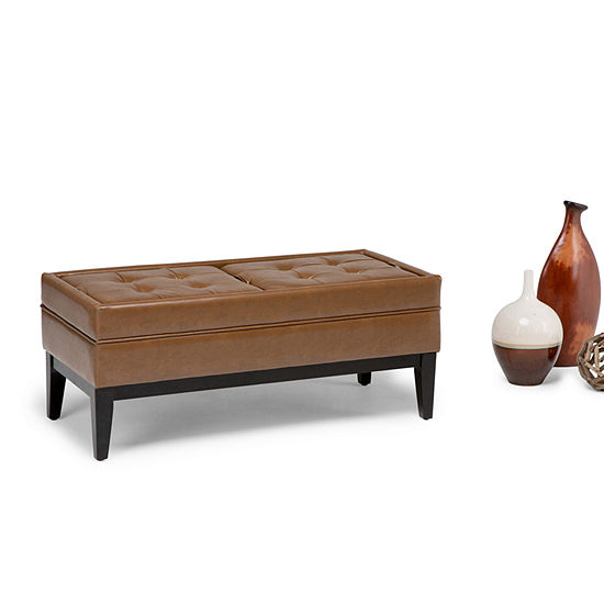 Castlerock Large Storage Ottoman Bench