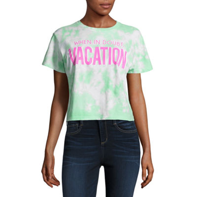 """Vacation"" Cropped Tee - Juniors"