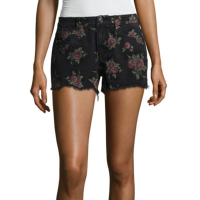 "Vanilla Star 3"" Denim Shorts-Juniors"
