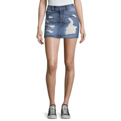 Blue Spice Denim Skirt-Juniors