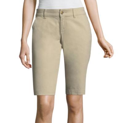 """Arizona 9 1/2"""" Relaxed Fit Bermuda Shorts-Juniors"""