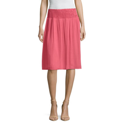 Liz Claiborne Smocked A-Line Skirt