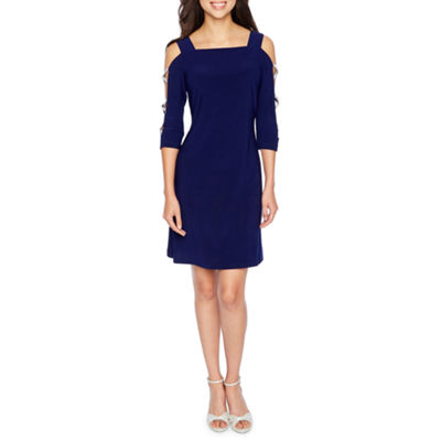 MSK 3/4 Sleeve Shift Dress