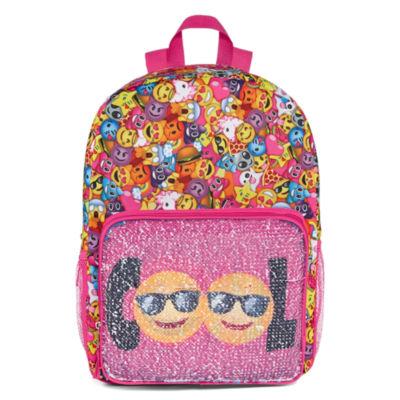 Smile Face Flip Sequin Backpack