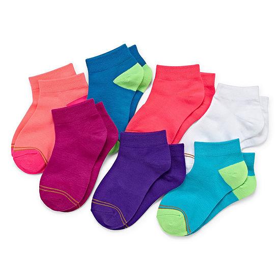 Gold Toe Big Girls 7 Pair Quarter Socks