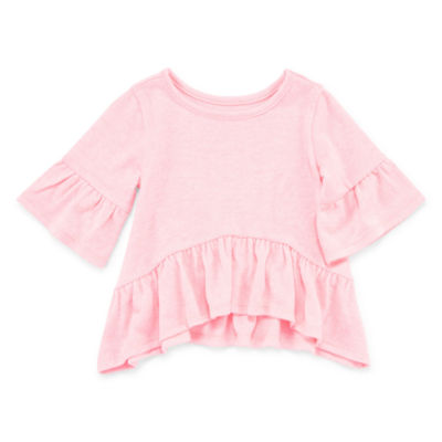 Okie Dokie Bell Sleeve Ruffle Top - Baby Girl NB-24M