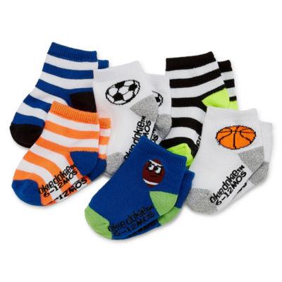 Okie Dokie Sport 6 Pack Crew Sock - Baby Boy