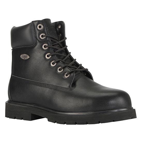 Lugz Mens Drifter 6 Steel Toe Water Resistant Slip Resistant Work Boots