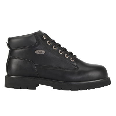 Lugz Mens Drifter Mid Steel Toe Water Resistant Slip Resistant Steel Toe Work Boots Lace-up
