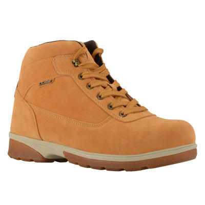 Lugz Mens Zeolite Mid Work Boots Water Resistant Slip Resistant Lace-up