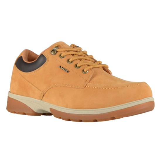 Lugz Mens Stack Lo Work Boots Water Resistant Slip Resistant Lace-up