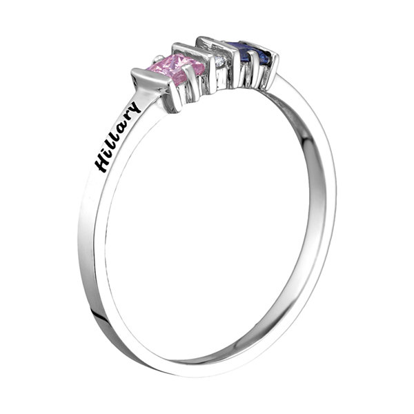 Womens Multi Color Stone 10K Gold Cocktail Ring
