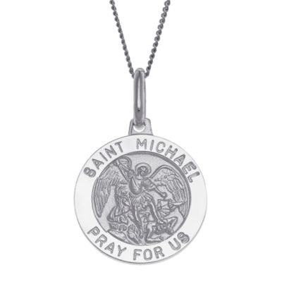 Made In Italy Personalized Unisex Sterling Silver Pendant Necklace
