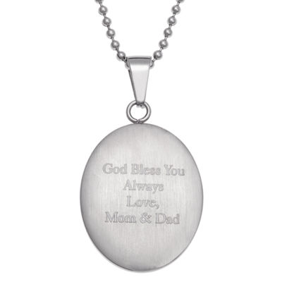 Personalized Unisex Stainless Steel Pendant Necklace