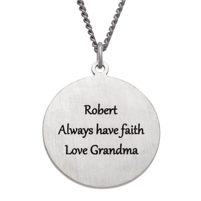 Personalized Unisex Sterling Silver Pendant Necklace