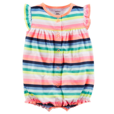 Carter's Stripe Short Sleeve Creeper - Baby Girls