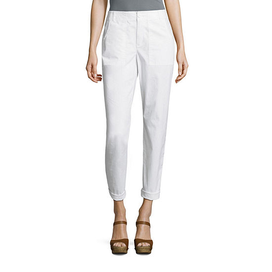 Liz Claiborne Straight Fit Poplin Cargo Pants