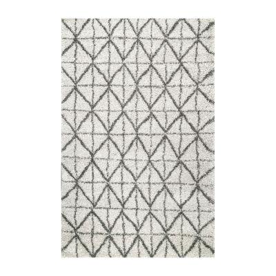 nuLoom Keely Tiles Shaggy Rectangular Rug