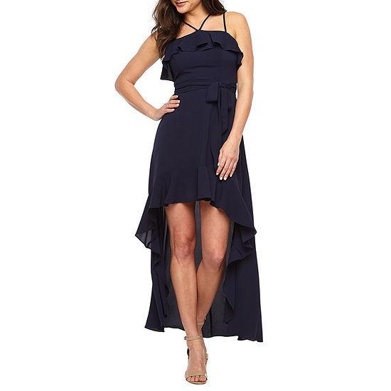 Premier Amour Sleeveless High Low Maxi Dress
