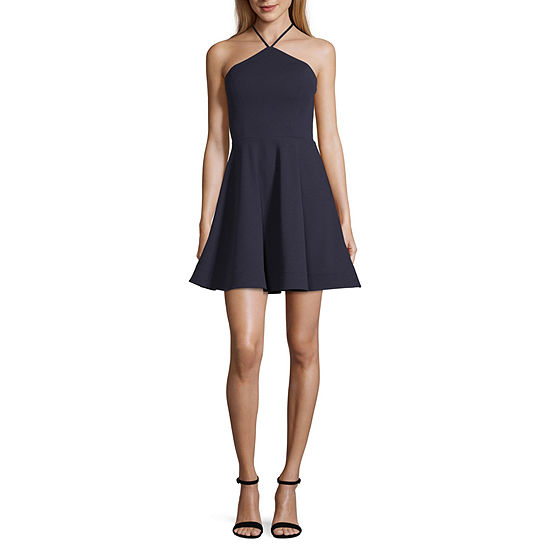 My Michelle Sleeveless Skater Dress-Juniors