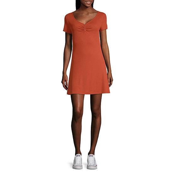 Arizona Short Sleeve T-Shirt Dresses Juniors