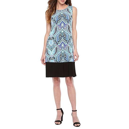 Ronni Nicole Sleeveless Midi Shift Dress