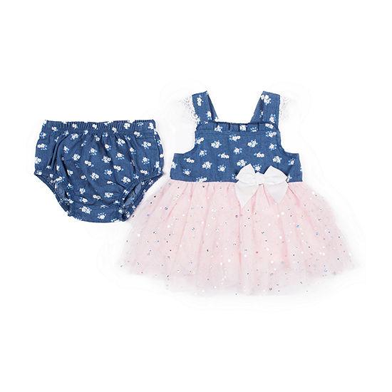 Little Lass Sleeveless Tutu Dress - Baby Girls