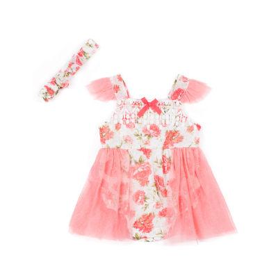 Little Lass Sleeveless Romper - Baby Girls
