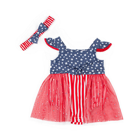 Little Lass Girls Sleeveless Romper - Baby