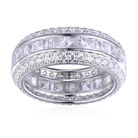 DiamonArt® White Cubic Zirconia Sterling Silver Anniversary Band