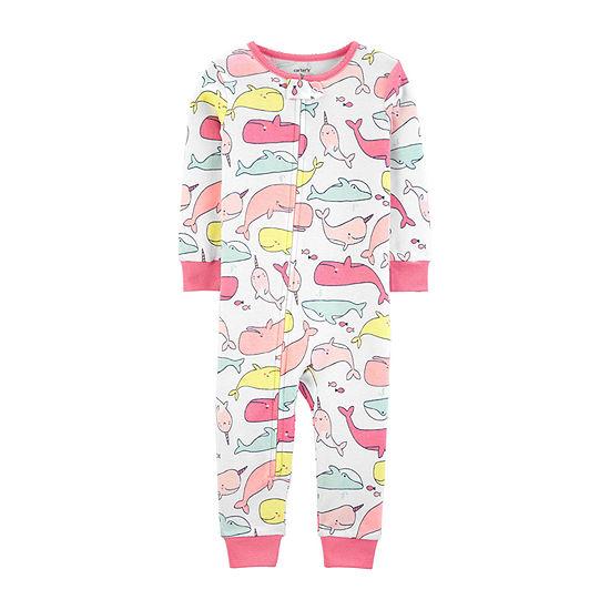 9b05129eb Carter's Girls One Piece Pajama Crew Neck - Baby - JCPenney