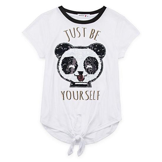 Knit Works Girls Scoop Neck Short Sleeve Graphic T-Shirt - Big Kid