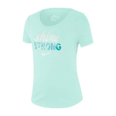 Nike Girls Scoop Neck Short Sleeve Graphic T-Shirt