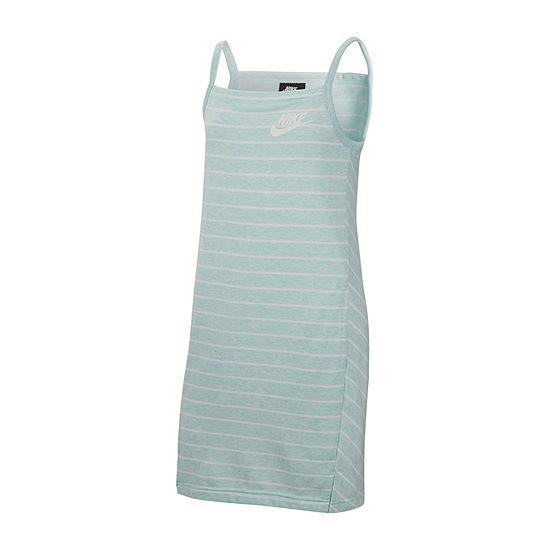 Nike Sleeveless Striped T-Shirt Dresses - Big Kid Girls