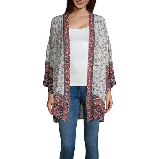 Artesia Womens 3 4 Sleeve Kimono