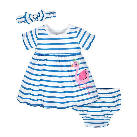 Gerber Short Sleeve Babydoll Dress - Baby Girls
