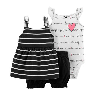 Carter's 3-Pc. Bubble 3-pc. Short Set Girls