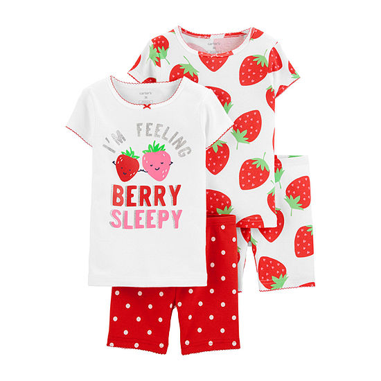 Carter's 4-pc. Pajama Set Baby Girls