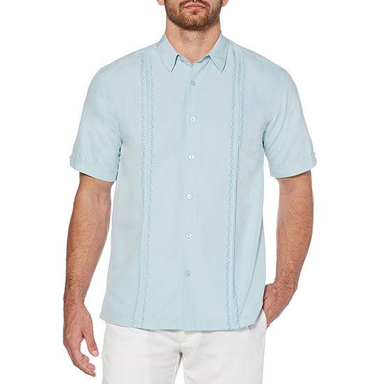 Cubavera Mens Short Sleeve Button-Front Shirt Big and Tall