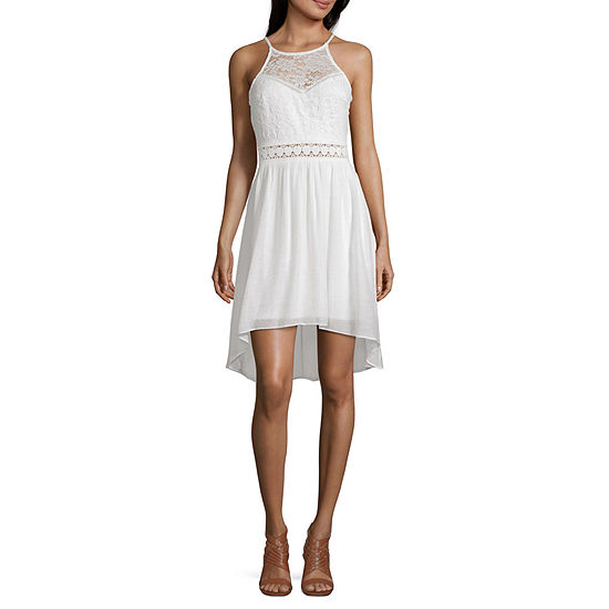 by&by-Juniors Sleeveless Fit & Flare Dress