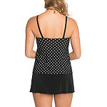 St. John's Bay Dots Swim Dress One Piece Swimsuit