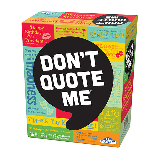Outset Media Dont Quote Me Party Game