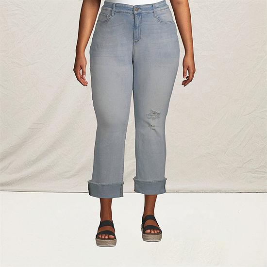 a.n.a-Plus Womens Mid Rise Straight Leg Jean