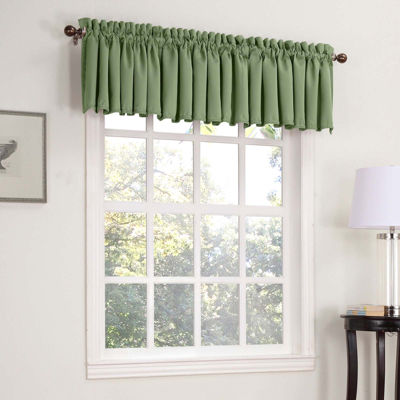 Sun Zero™ Emory Room-Darkening Rod-Pocket Valance